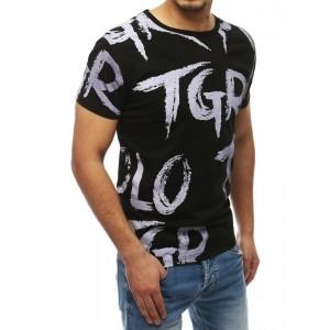 Pánske tričko s krátkym rukávom v čiernej farbe