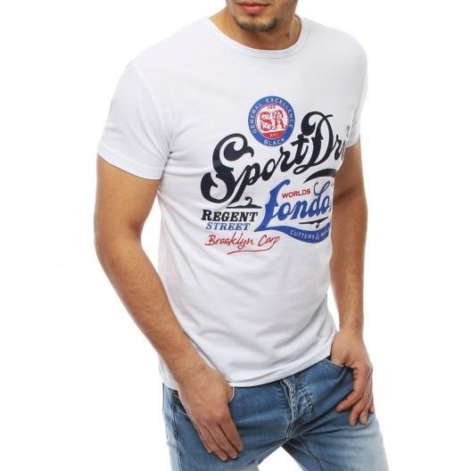 Biele moderné tričko s farebnou potlačou