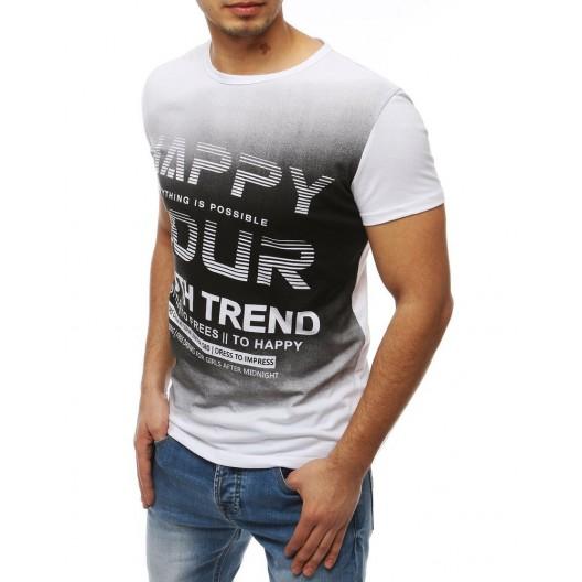 Trendové pánske tričko na leto bielej farby