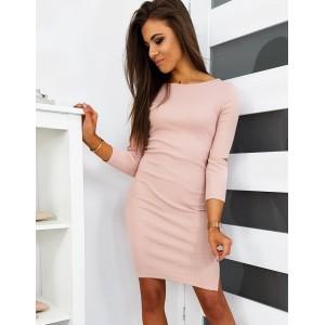 Štýlové dámske ružové šaty na leto