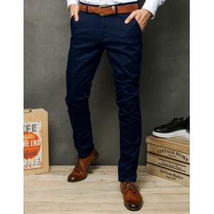 Elegantné pánske nohavice tmavo modrej farby