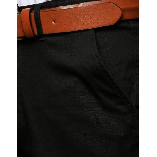Čierne pánske spoločenské nohavice s mierne zúženým strihom