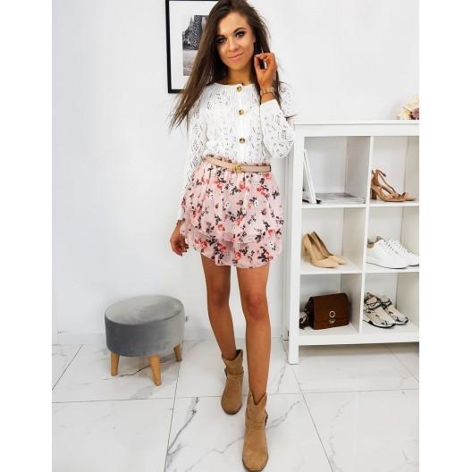 Letná dámska kvetovaná sukňa ružovej farby