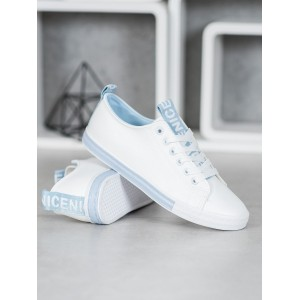 Nízke dámske tenisky v bielej farbe
