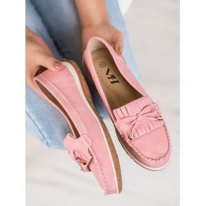 Originálne dámske mokasíny v ružovej farbe