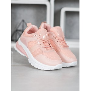 Originálne dámske tenisky v ružovej farbe na viazanie