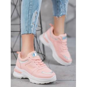 Vysoké tenisky pre dámy v ružovej farbe