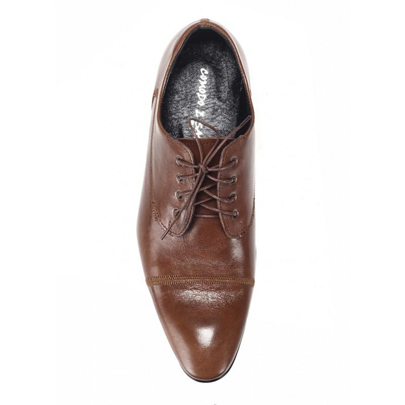 Talianske kožené pánske topánky hnedej farby COMODO E SANO Italy faf4401cd34