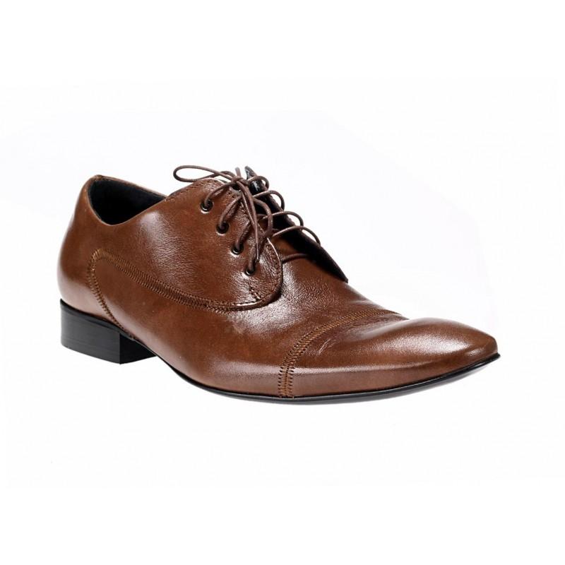 7a578a876b97 Talianske kožené pánske topánky hnedej farby COMODO E SANO Italy ...