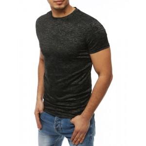 Pánske tričko na leto v sivej farbe s okrúhlym výstrihom