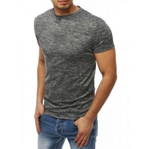 Pohodlné pánske tričko s krátkym rukávom v sivej farbe