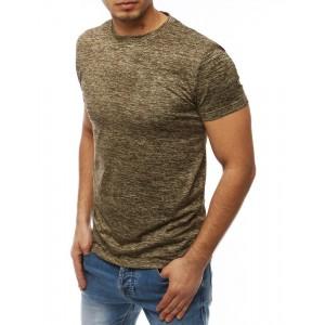 Tričko s krátkym rukávom pre pánov v béžovej farbe