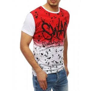 Pánske ombre tričko v červenej farbe s krátkym rukávom