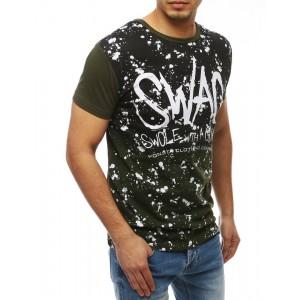 Zelené tričko pre pánov s krátkym rukávom SWAG