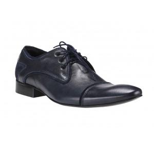 Kožené pánske topánky modrej farby COMODO E SANO