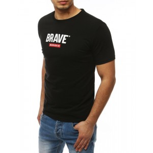 Tričko s okrúhlym výstrihom pre pánov v čiernej farbe
