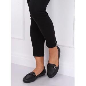 Dámske mokasíny pre dámy v čiernej farbe