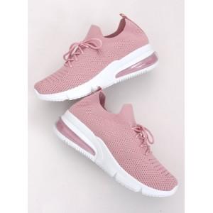 Ružové dámske letné tenisky na šnúrovanie