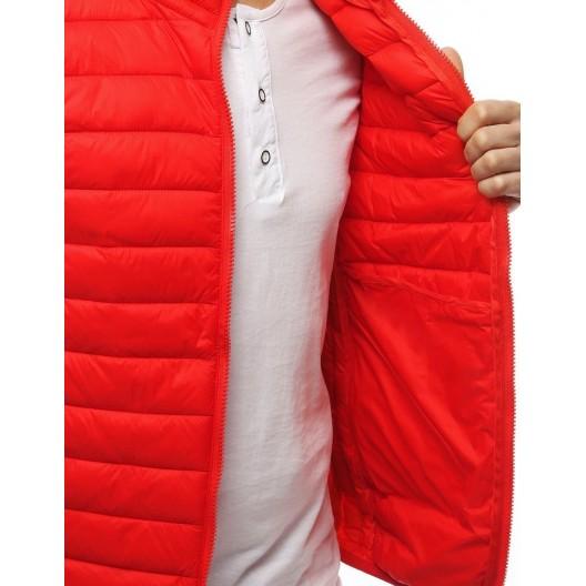 Pánska prešívaná vesta bez kapucne červená
