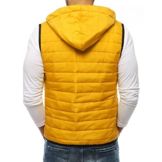 Pánska jarná vesta v žltej farbe