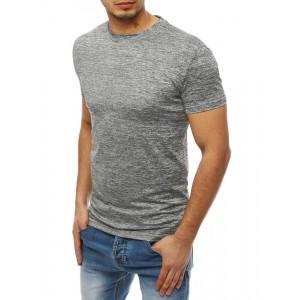 Svetlo sivé vzorované pánske tričko s krátkym rukávom