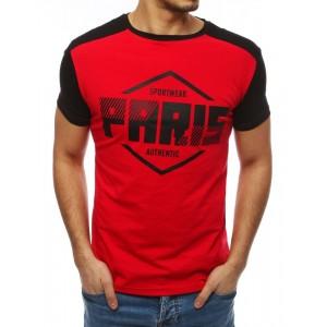 Paris pánske tričko v červenej farbe