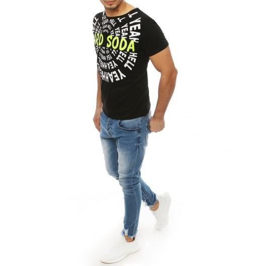 Čierne letné tričko s originánym motívom