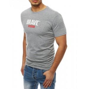 Krátke pánske tričko v sivej farbe
