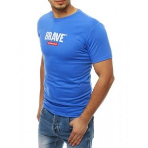 Modré pánske tričko s nápisom