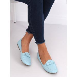 Moderné dámske mokasíny v modrej farbe