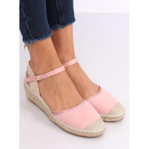 Dámske sandále na platforme v ružovej farbe
