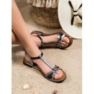 Moderné dámske letné sandále v čiernej farbe