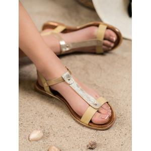 Štýlové dámske sandále na leto bez podpätku