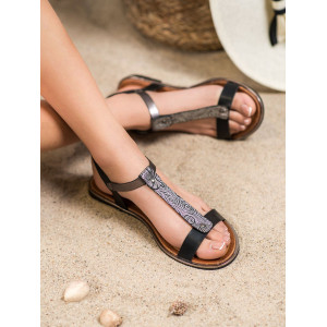 Originálne dámske letné sandále bez podpätku