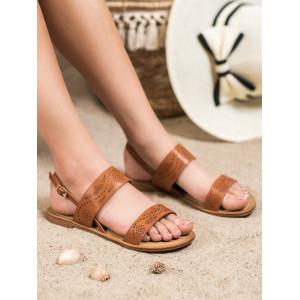 Moderné dámske letné sandále v hnedej farbe