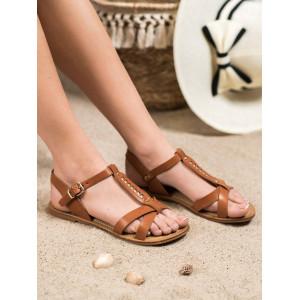Letné sandále na nízkom podpätku pre dámy