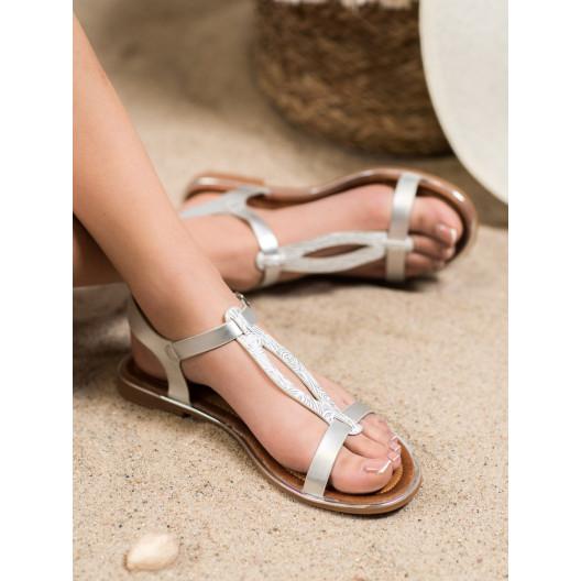 Štýlové dámske sandále so zapínaním na remienok
