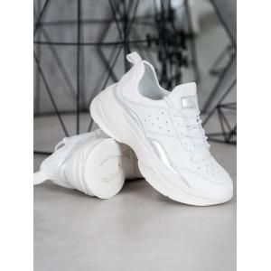 Dámske biele tenisky na vysokej podrážke