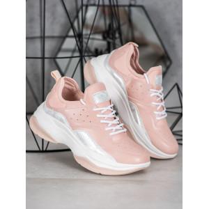 Vysoké dámske tenisky v ružovej farbe
