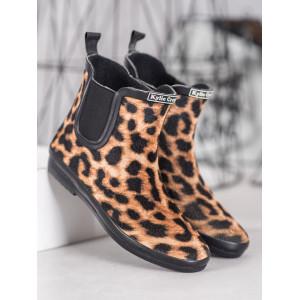 Dámske jarné topánky v leopardiom motíve