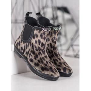 Leopardie dámske členkové topánky na jar