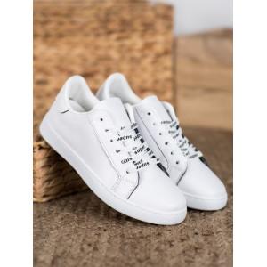 Lacné dámske tenisky v bielej farbe
