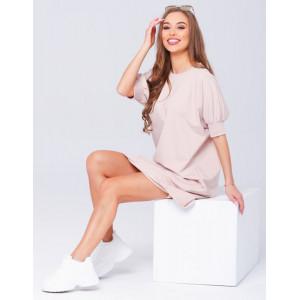 Štýlové dámske voľné šaty na leto v ružovej farbe