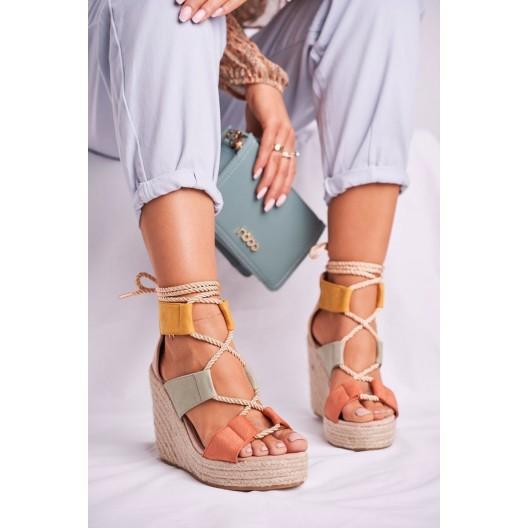 Dámske farebné sandále na platforme BEAUTIFUL ONE