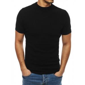 Čierny pánsky sveter s krátkym rukávom