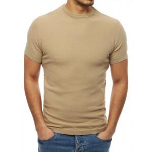 Béžový sveter s krátkym rukávom pre pánov