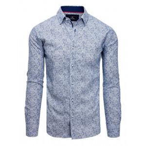 Pánska moderná košeľa s dlhým rukávom k obleku