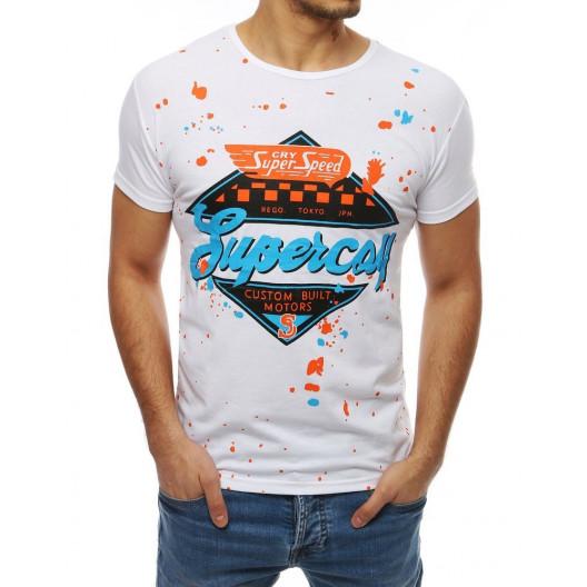 Pohodlné pánske letné tričko s farebnou potlačou