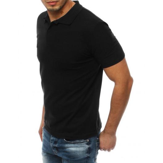 Letná pánska polokošeľa čiernej farby s krátkym rukávom