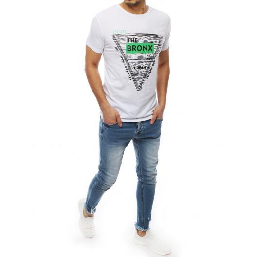Biele letné tričko s krátkym rukávom
